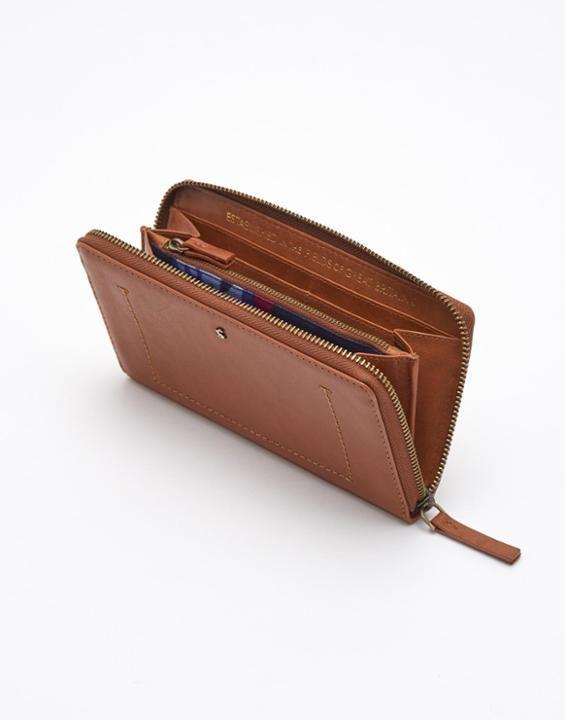 *JOULES® || 'Fairford' brown purse | Billetero marrón 'Fairford'