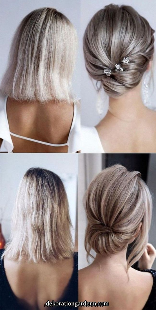 Chic and stylish wedding hairstyles for short hair – New Ideas