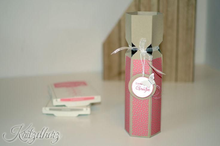 Flaschenverpackung, Stampin' Up!, Kritzelherz, Envelope Punch Board