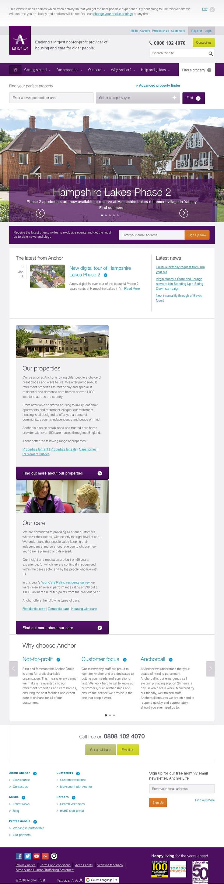 Anchor Trust Housing Associations Societies Trusts & Co-Operatives 210 Main Road  Biggin Hill Westerham Kent TN16 3BB | To get more infomration about Anchor Trust, Location Map, Phone numbers, Email, Website please visit http://www.HaiUK.co.uk