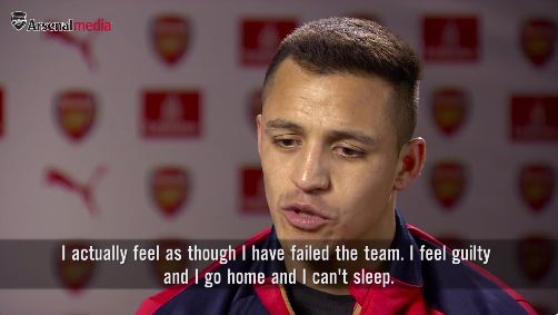 Alexis Sanchez: I feel like a failure when I dont score for Arsenal (Video)