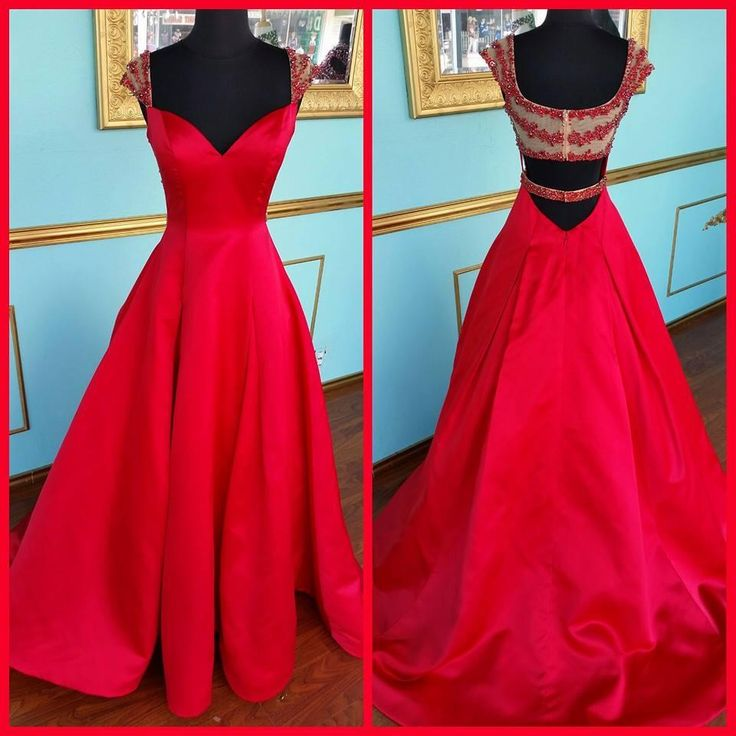 Vintage Prom Dresses Uk 2016 Hot Sale Red Prom Dresses Real Photos A Line V Neck Beading Crystals Satin Pageant Dresses With Cap Sleeves And Zipper Back Cheap Prom Dress Websites From Nicedressonline, $148.64| Dhgate.Com