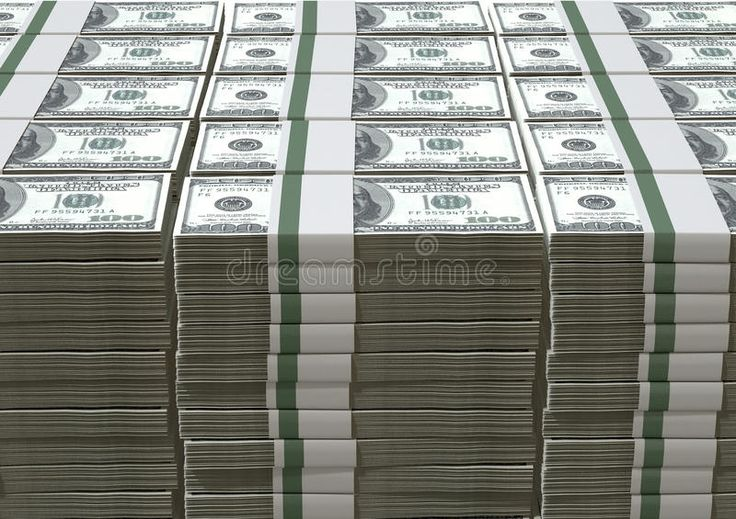 US Dollar Notes Pile Stock Photo