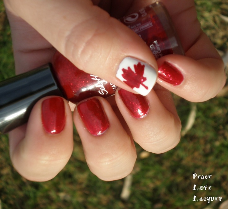 The Canadian Flag! Aboot! #nailart