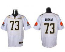 Cleveland Browns #73 Joe Thomas White 2016 Pro Bowl Elite J