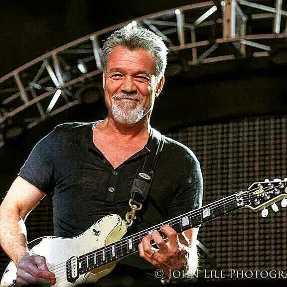 """ROLLING STONE MAGAZINE Eddie Van Halen, - Raw artistic genius, backed up with infectious incendiary energy."
