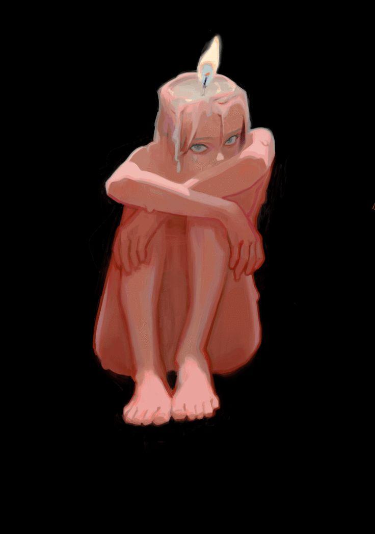 Горящая девушка аниме фото 684-296