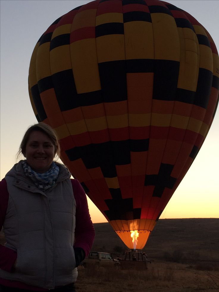 Almost time for Esna to depart with AirVentures Hot Air Ballooning near…