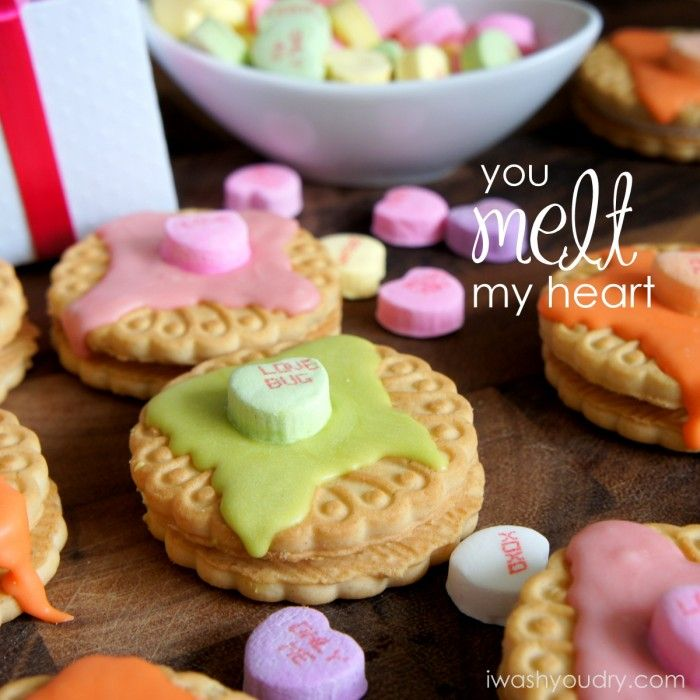 You Melt My Heart Cookie Valentines - I Wash You Dry