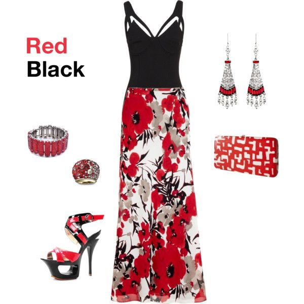 """""""BLACK/RED"""" by czajkows on Polyvore"""