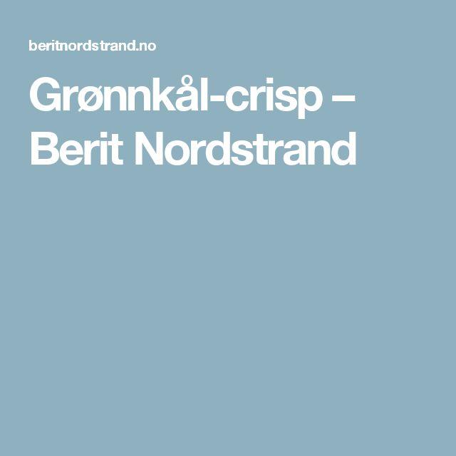 Grønnkål-crisp – Berit Nordstrand