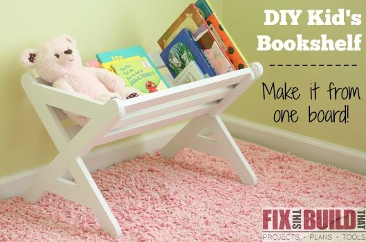 How to build a DIY Kids Bookshelf out of one board! #oneboardchallenge