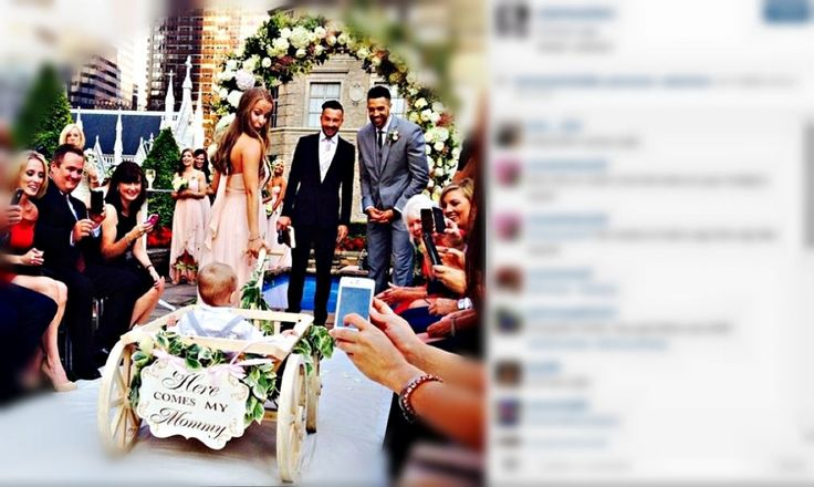 Landry Fields and Elaine Alden's wedding ceremony is seen in this photo shared publicly online July 13, 2014.