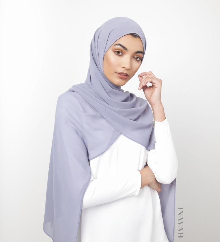 INAYAH   Blue Granite Soft Crepe #Hijab - www.inayah.co