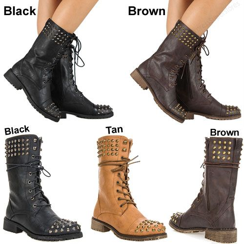 Elegant Women Fashion Combat Boots On Nana Pole Climber Combat Lace Up Knee