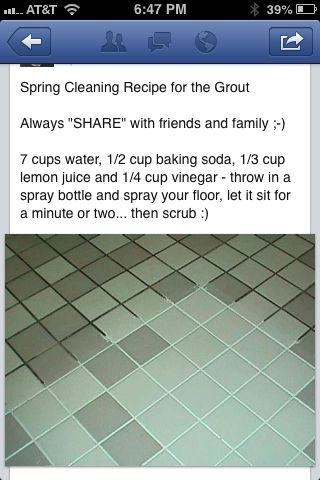 Cleaning Grout/tile Floor