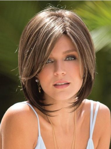 Short Straight Capless Brown Ideal Synthetic 10″ Bob Wigs