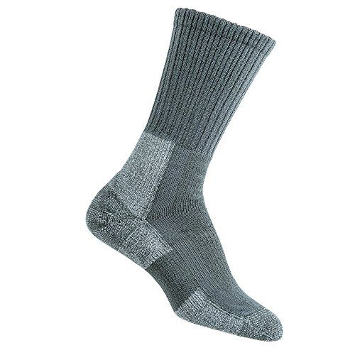 Thorlos Trail Hiking Crew Sock - Women's Oyster Grey, 9 Made by #TH-TRHXW-THC- Color #Oyster Grey. Constructed with THOR�LON� fibers for superior softness, resilience, durability and moisture-wicking for drier, better feeling feet.. Unique padding specifically engineered for trail hiking, clinically shown to reduce blisters, pain, pressures and moisture.. Cushioned instep and arch for a better fit, more support and less pressure on feet for a more comfortable hike.