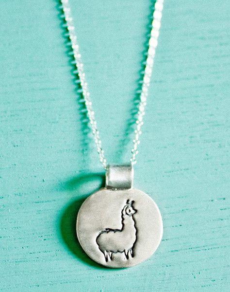Silver Llama Necklace