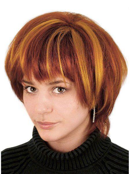 """https://11ter11ter.de/17382914.html Damen Kurzhaar Perücke """"Funky Girl"""" mit Strähnchen #11ter11ter #haare #perücke #strähnen #woman #kurzhaar #fasching #karneval #lady"""