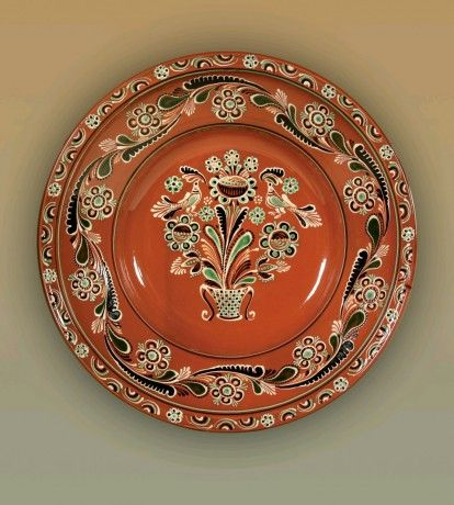 Hungarian hand-painted plate