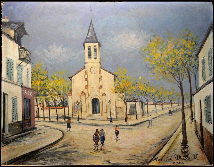 Maurice Utrillo - Eglise de Villetaneuse https://twitter.com/Gislebert