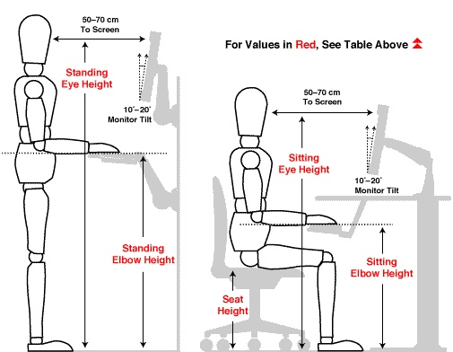 Ergonomic Office Desk Chair And Keyboard Height Calculator