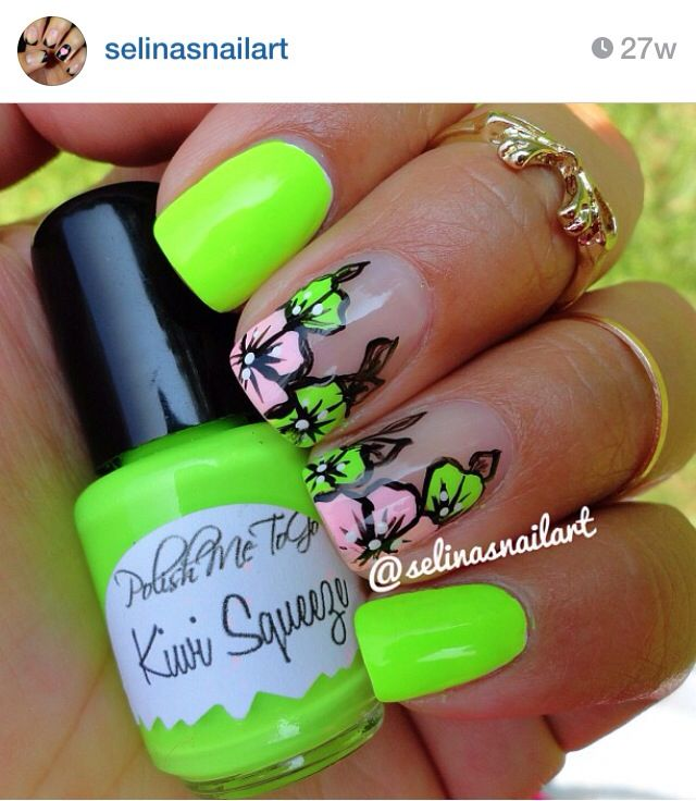 Mejores 58 imágenes de Nails - Oranges/Yellows/Greens en Pinterest ...