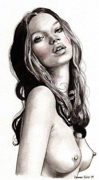 sexy girl pose pencil sketches