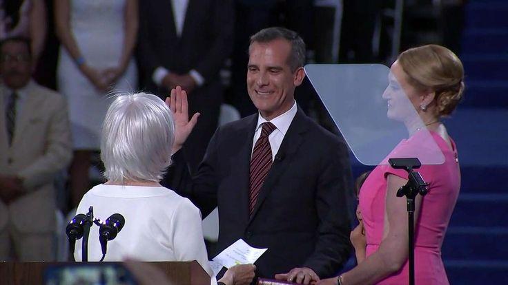 Los Angeles Mayor Eric Garcetti sworn in for 2nd term