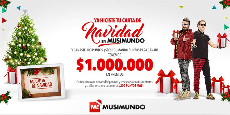 ¡Compartí, y sumá chances de ganar! En Musimundo para esta Navidad, ¡tenemos 1.000.000 EN PREMIOS!