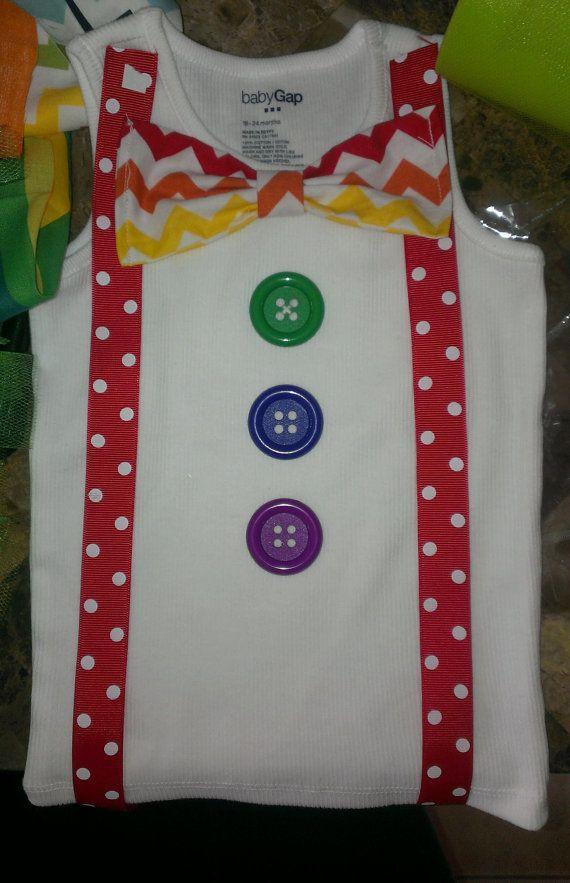 Rainbow Shirt Clown Costume Chevron Shirt Tie Shirt on Etsy, $24.95