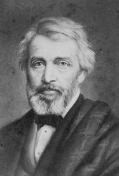 """Historian Thomas Carlyle (1795-1881) -- Charles Darwin was well-acquainted with Carlyle, having met him """"several times at my brother's house, and two or three times at my own house."""""""