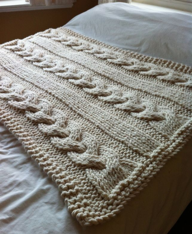 Giant Cable Knitted Blanket or Throw £140.00