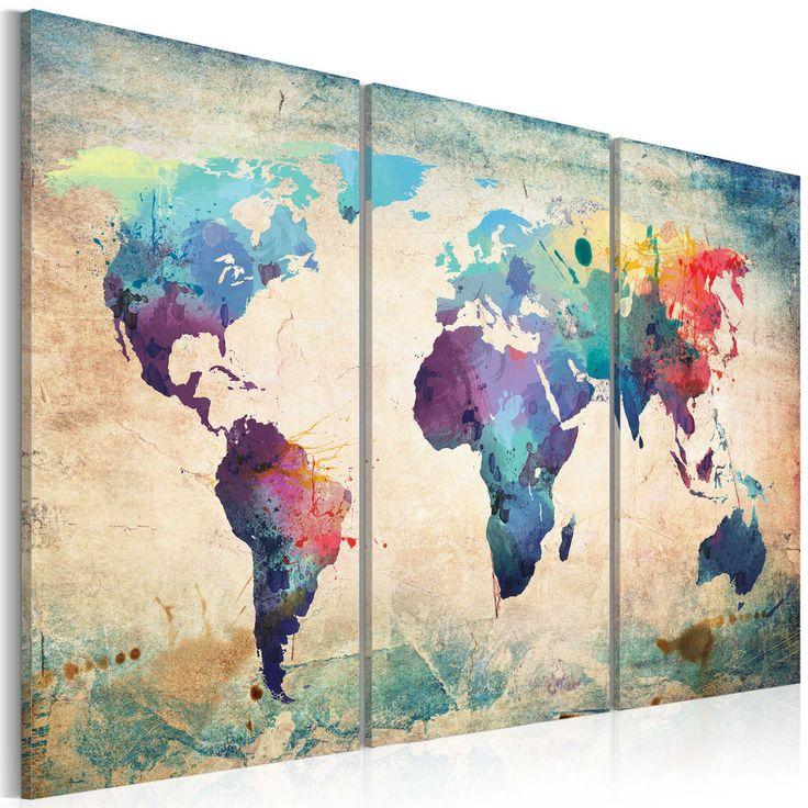 !CUADROS EN LIENZO XXL! DECORACIÓN DE LA PARED * 2 TAMAÑOS* MAPA 020113-47 | Casa, jardín y bricolaje, Decoración para el hogar, Decoración de paredes | eBay!