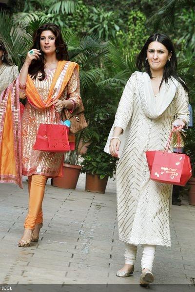 Twinkle Khanna and Anu Dewan@ TOI