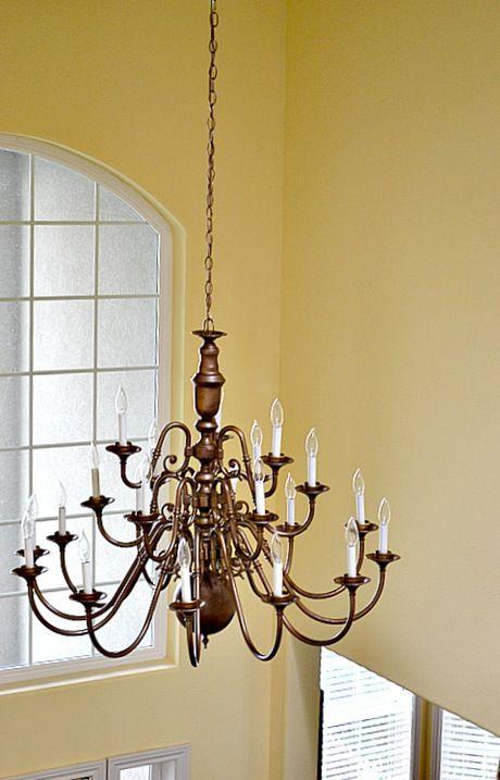 antiques brass chandelier makeover and chandelier makeover on. Black Bedroom Furniture Sets. Home Design Ideas