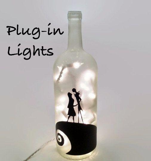 Pesadilla antes de Navidad lámpara de botella de por ShopOfBottles
