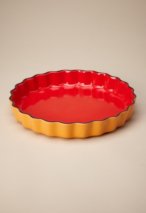 Tart/Quiche Dish by Casafina: Made in Portugal of stoneware, freezer, oven, microwave and dishwasher safe. I need this dish.