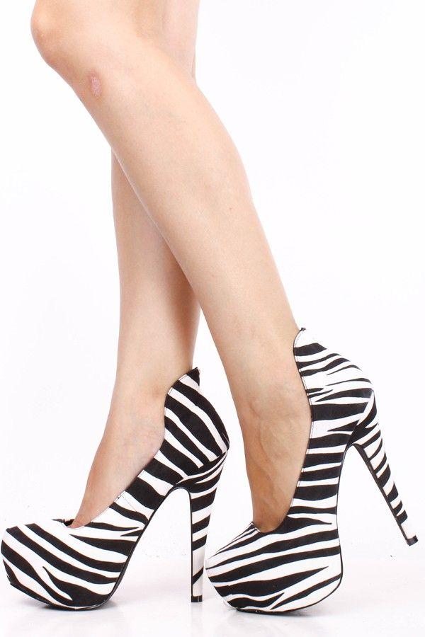 BLACK WHITE ZEBRA PRINT VELVET HIGH BACK ALMOND TOE PLATFORM HIGH HEEL PUMPS,Womens Sexy Heels Shoes-Sexy Heels,High Heels Shoes,High Heels ... find more mens fashion on www.misspool.com