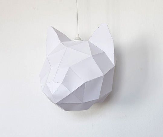 #DIY paper cat lampshade