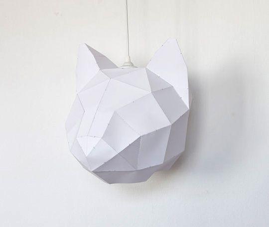 #DIY paper cat lampshade