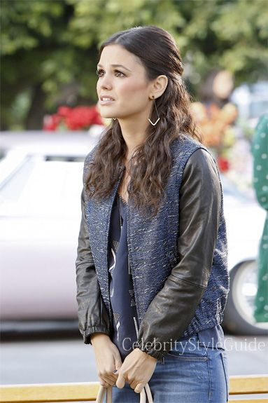 Seen on Celebrity Style Guide: Hart of Dixie Fashion: Rachel Bilson as Zoe Hart wears this metallic tweed Bomber Jacket on �Hart of Dixie� epi 3.11 ��One More Last Chance�  Get It Here: http://rstyle.me/~1odDt