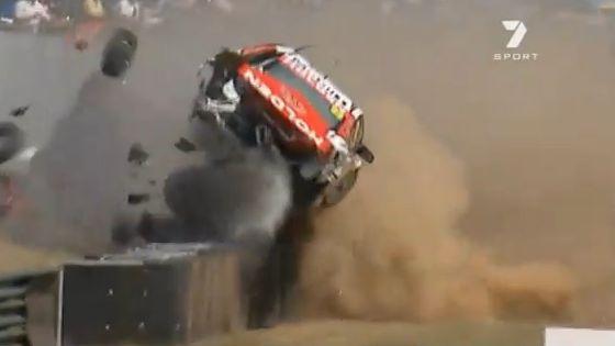 V8 crash at Sandown raceway
