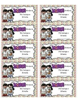 These super cute Science Notebook Labels will help your students stay organized by clearly identifying their Science Notebooks! Whether you use interactive notebooks or have your students take notes in a notebook, these are perfect! The labels were created to be used with 2x4 labels such as Avery #5263 or #8463.