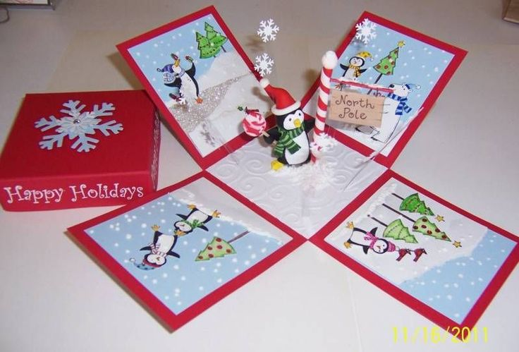 Explosion Box with ornament inside - love it.  Google Explosion Box for tutorial.