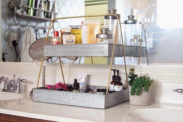Love This Bathroom Organizing Idea It S Actually A Plant Rack Bathroom Organisation Organize Bathroom Countertop Bathroom Counter Organization