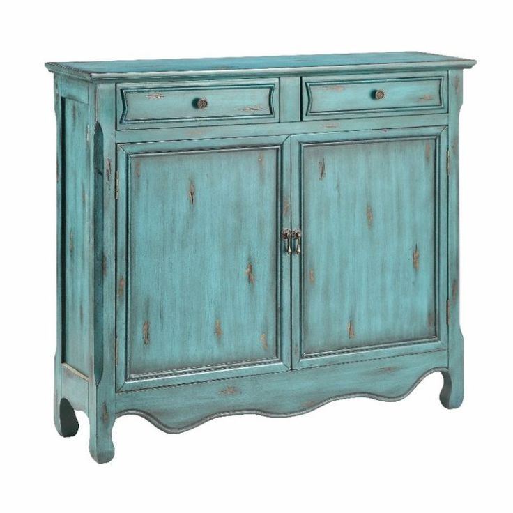 Best Distressed Blue Accent Cabinet With Images Blue 400 x 300