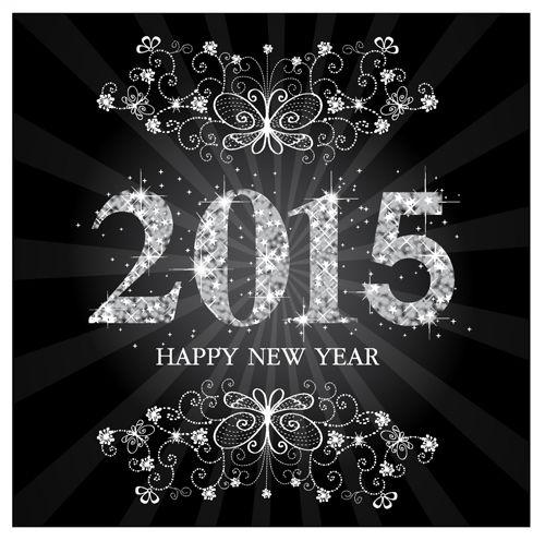 Set of 2015 new year vectors design 08