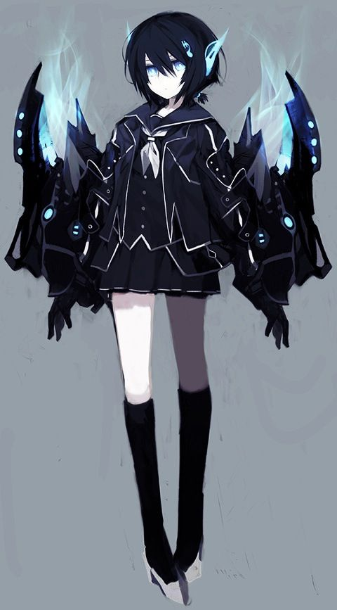 Blue Exorcist x Black Rock Shooter crossover - female Rin